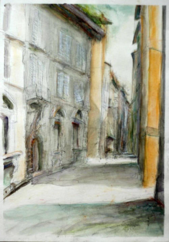 Una strada in Lucca
