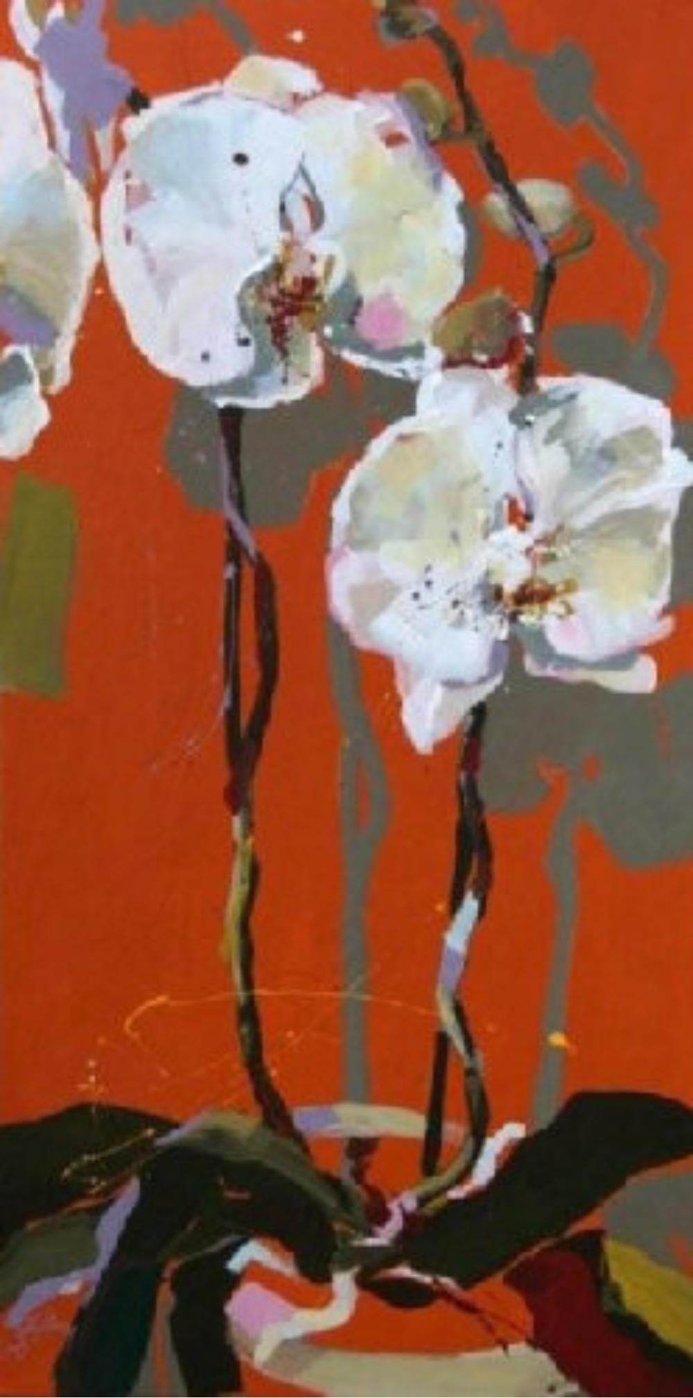 Weiße Orchideen I