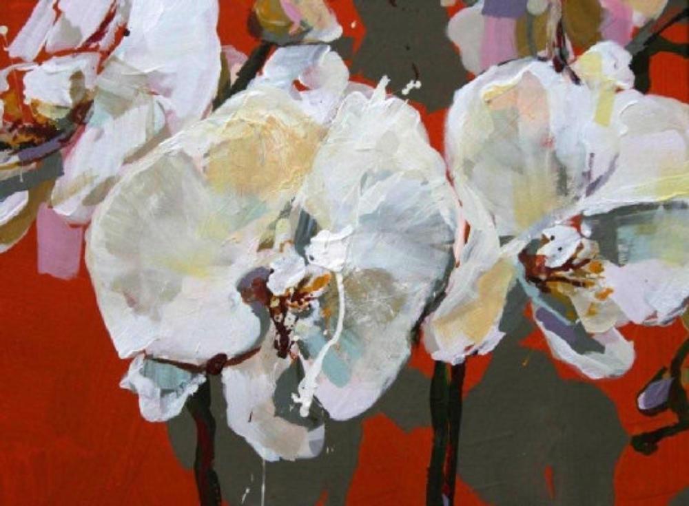 Weiße Orchideen II