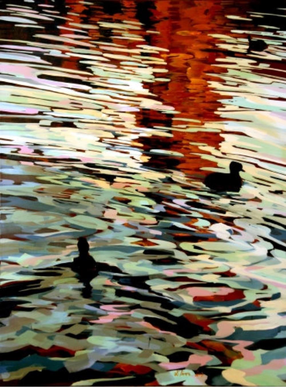 Wasserfarben und Lichtreflexe