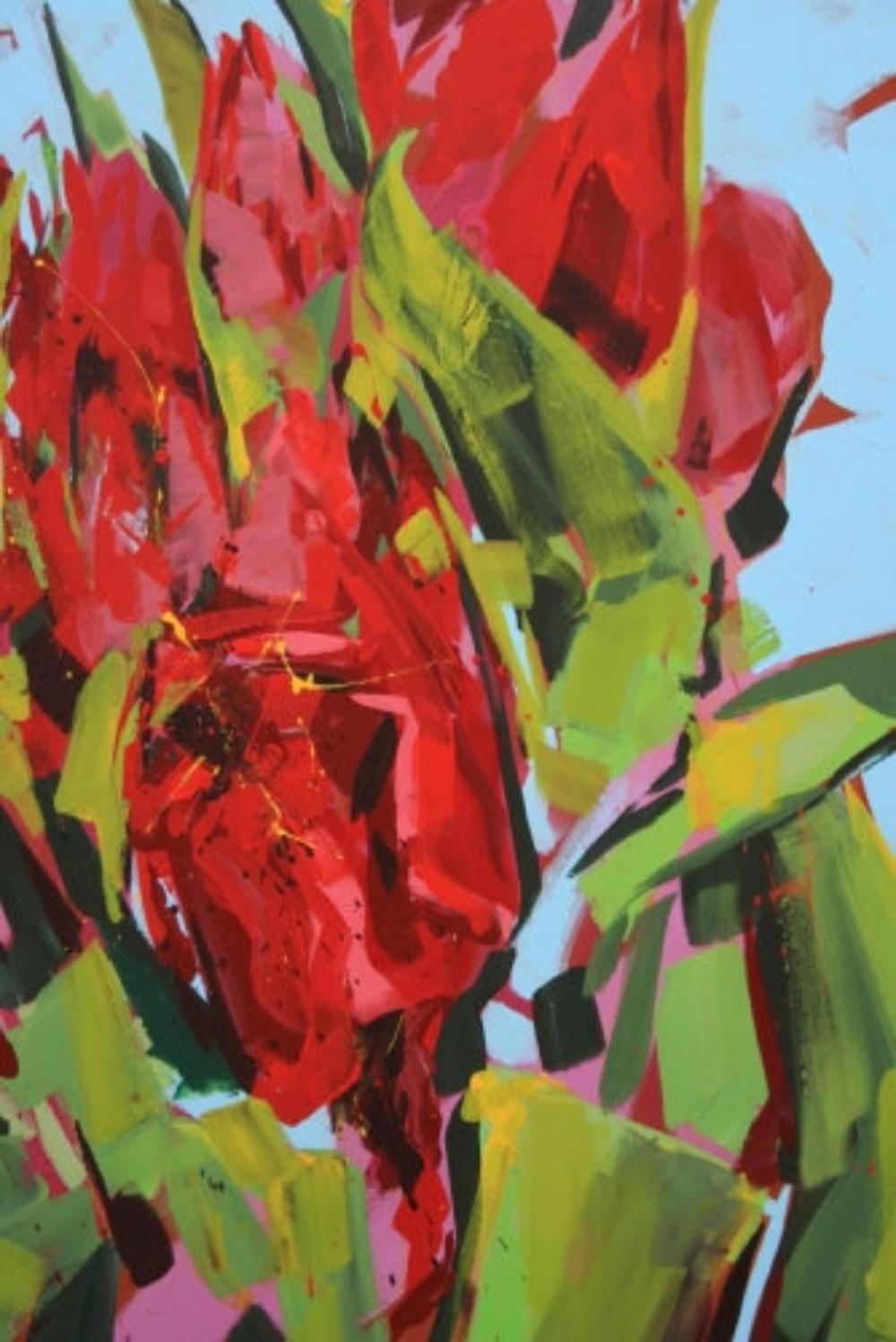 Frühlingsbouquet rote Tulpen (Detail)