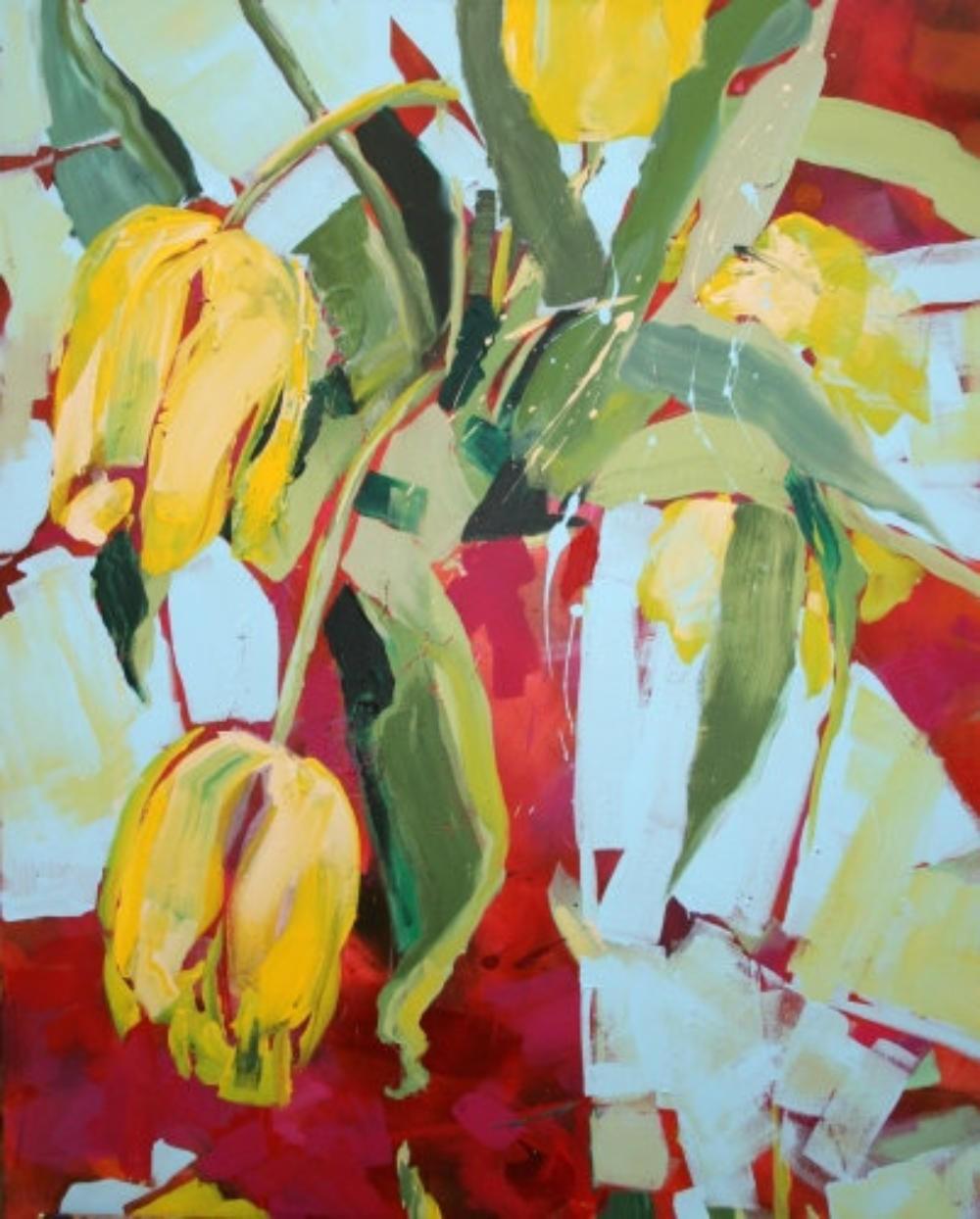 Gelbe Tulpen in der Vase