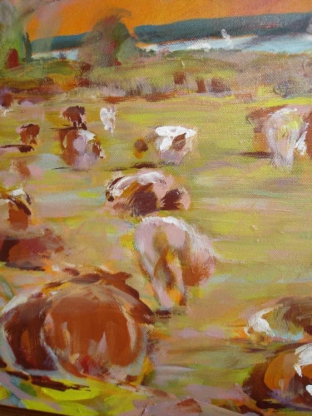 Kühe an der Müritz (Detail)
