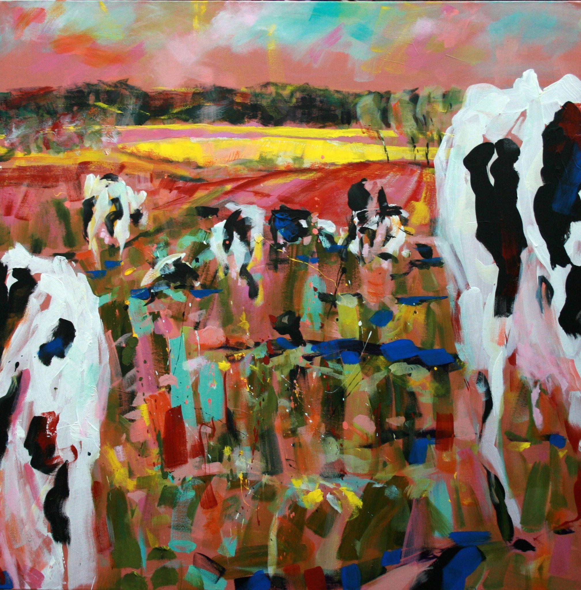 Kühe im Frühling I