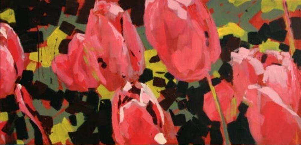 Rosa Tulpen im Garten I