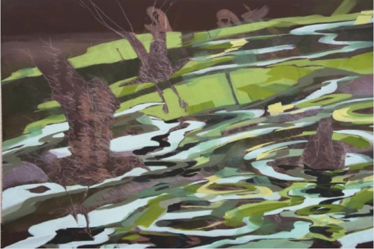 Möwen und blaugrünes Wasser