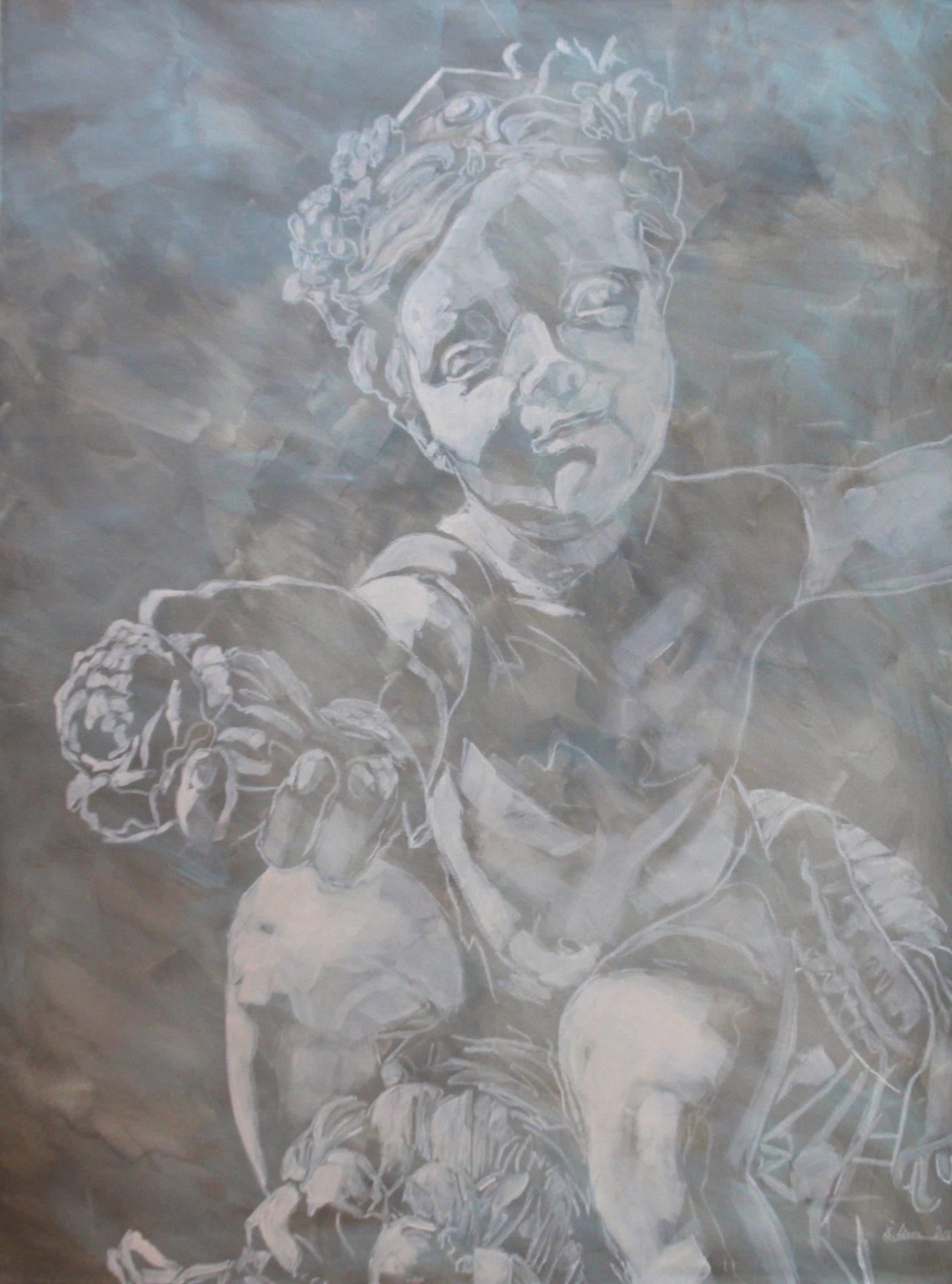 Engel mit Rose