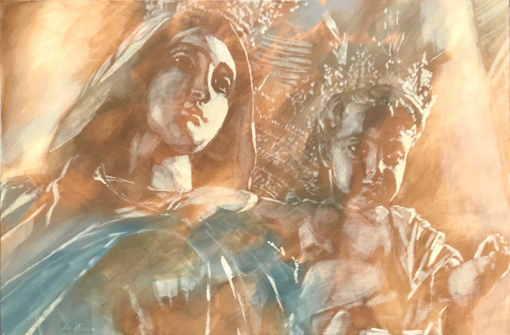 Madonna mit Kind auf Arm