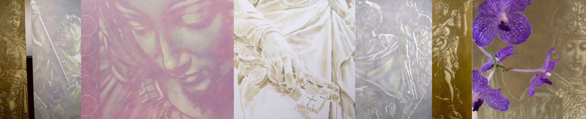 Huldigung St.Georg Ausstellung 2017 Acryl DFLüers