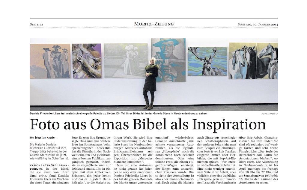 Nordkurier Mercedes Ausstellung 2014