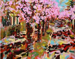 Vormittags in der Kirschblütenallee